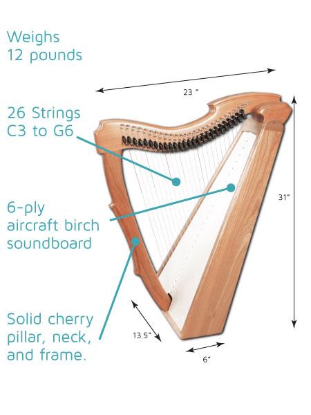 Limerick Lap Harp