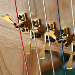 An example of harp sharping levers - Pictured: Truitt Levers