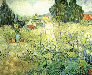 Van Gogh painting of woman in garden... maybe it's Sally.  I don't know.
